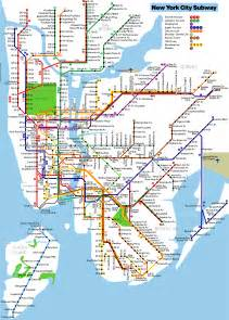 New York Subway Map With Streets by New York Subway Map