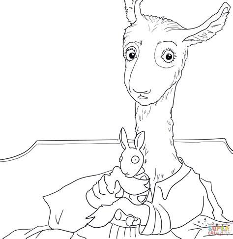 llama coloring pages llama llama pajama coloring page free printable