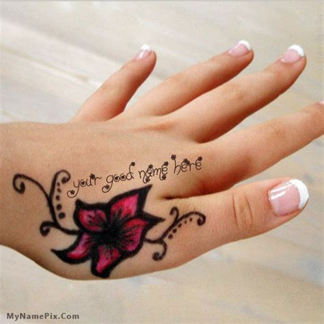 tattoo for girl hand name mehndi name hand with name