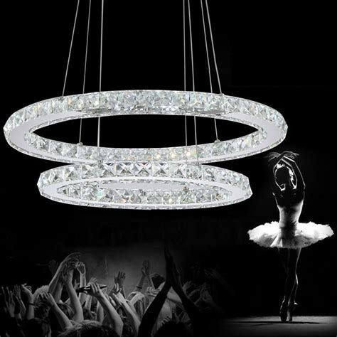 Crystal Modern Led Ceiling Light Warm White Bedroom Living