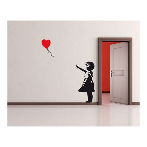 sticker wall banksy balloon wall sticker