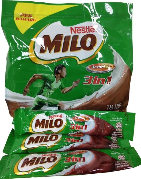 Milo Activ 3in1 nestle milo activ go 3 in 1 nutritious chocolate malt