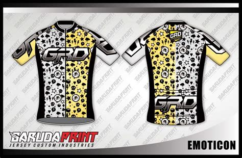 design kaos gowes desain kaos sepeda road bike emoticon garuda print