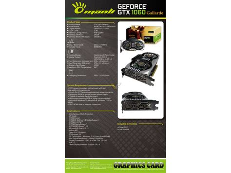 Manli Geforce Gtx1060 Gallardo 6gb Ddr5 manli geforce gtx 1060 6gb gallardo videocardz net