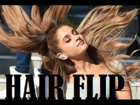 whats wrong with ariana grande hair ariana grande signature hair flip compilation youtube