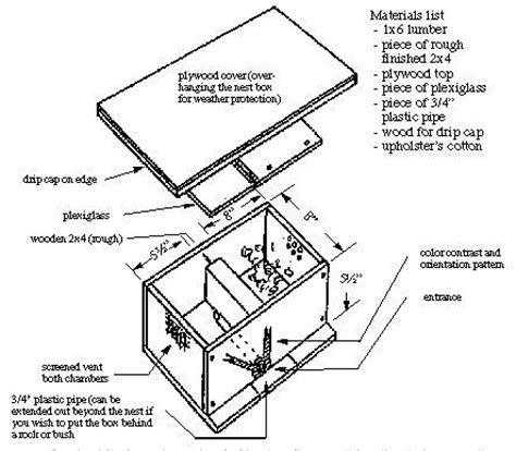 Beekeeping Bumble Bee House Plans