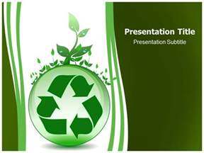 global environmental recycling powerpoint templates and