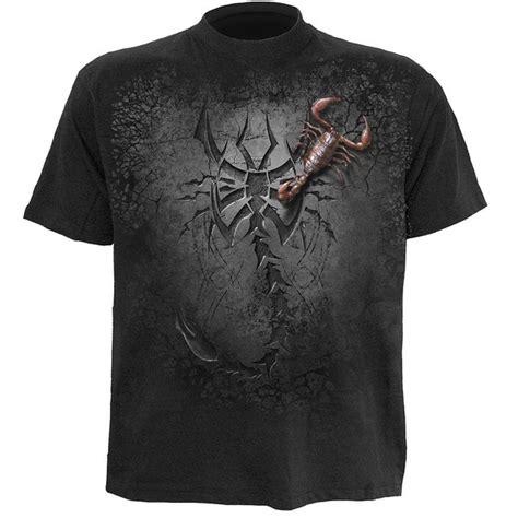 T Shirt Black Mix Tribal spiral s tribal scorpion t shirt black clothing