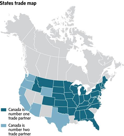 map of canada and the united states how much trade leverage does canada really with the u