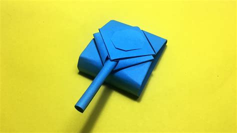 Origami Tank - how to make origami tank army tank that shoots diy