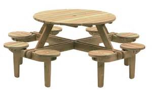 Picnic Bench Designs Alexander Rose Pine Gleneagles 8 Seater Picnic Table 1 1m