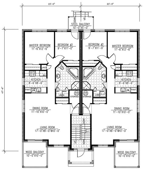 multifamily floor plans six plex multi family home plan 90146pd 1st floor