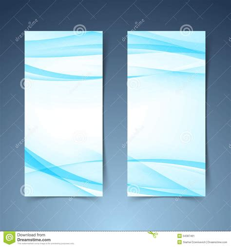blue layout vector blue smooth swoosh line border banner layout jpg stock