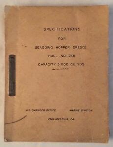 seagoing hopper dredge specifications hull    engineer office ebay