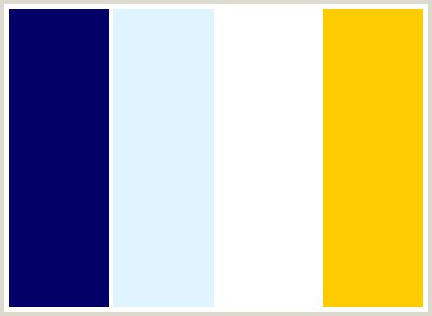 white blue color scheme colorcombo110 with hex colors 000066 e0f4ff ffffff ffcc00