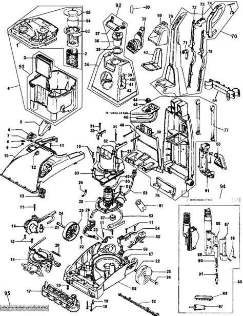 hoover carpet cleaner parts diagram hoover f5914 900 spinscrub extractor vacuum cleaner parts