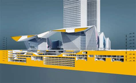 transport cross section qianhai integrated transportation hub gmp architekten