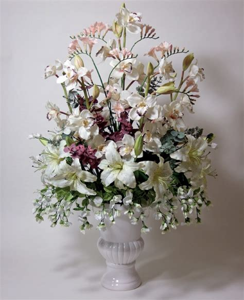silk wedding flower arrangements wedding flower - Silk Wedding Flower Arrangement