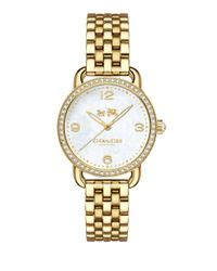 Lancing Samora Gold Ss lyst coach s delancey gold tone stainless steel bracelet 28mm 14502478 in metallic