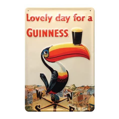 Lovely Days 1 6 guinness guinness 174 toucan metal wall from guinness webstore