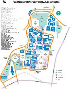 Cal State La Campus Map by Gallery For Gt Csula Campus Map