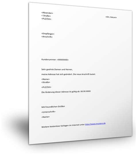 Bewerbung Einleitung Wegen Umzug Mustervorlage F 252 R Die Adress 228 Nderung Wegen Umzug