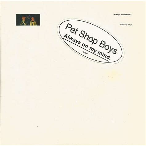 Always On My Mind Do I Have To By Pet Shop Boys Sp With Jeremupper Ref 117547228