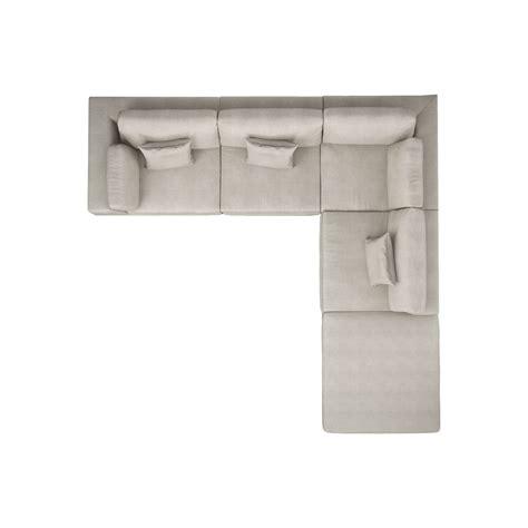 sofa draufsicht perry one arm corner sectional sofa modloft touch of