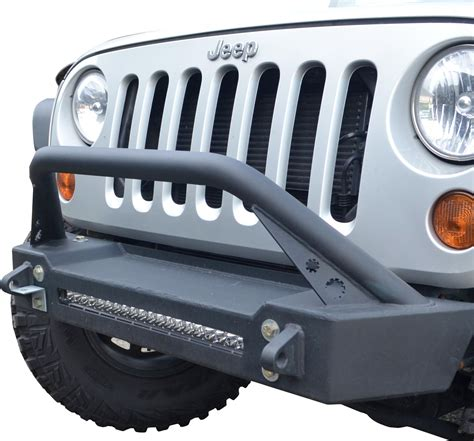 Front Led Light Bar Ace Engineering Acejkprofbbbcb Pro Series Front Bumper With Bull Bar 20 Quot Led Light Bar For 07