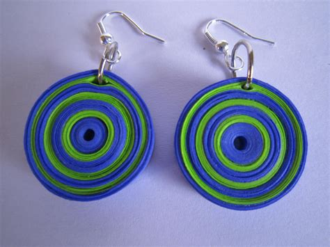 Paper Earrings - handmade jewelry paper quilling earrings
