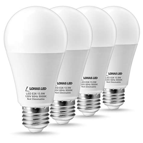 Lohas Led Light Bulbs 100 Watt Equivalent Daylight 5000k 100 Watt Equivalent Led Light Bulbs For Home