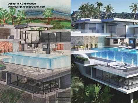 on the drawing board pool houses how to draw a modern house with pool tutorial youtube