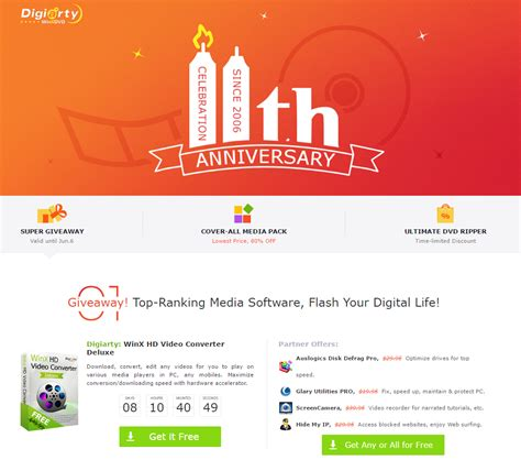 Free Software Giveaway Sites - free digiarty 11th anniversary free software giveaway tweakbytes tech forums