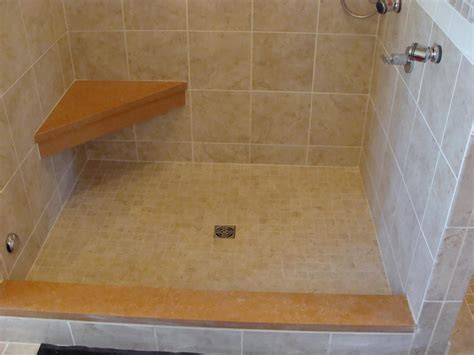 tiled shower with bench better bench a bench forming system westside tile and stone