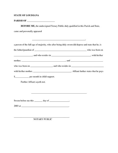 child support letter format best photos of notarized letter format for child support