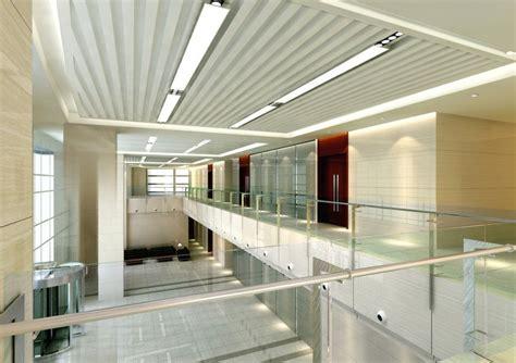 Building Interior Design Office Building Interior Corridors And Railings Design