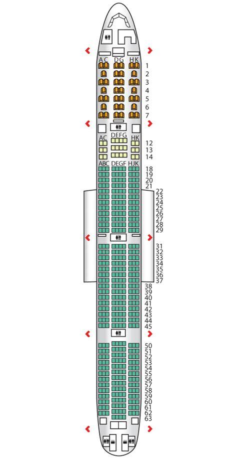 air canada 777 300 seat map b777 300er three class air canada seat maps
