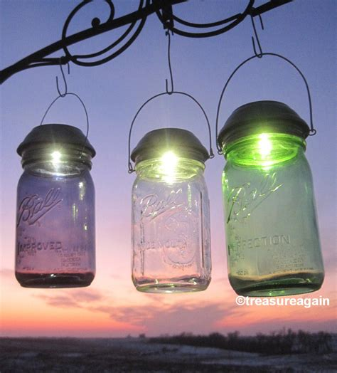Choice Mason Jar Solar Light New Purple Green Or Clear Ball Jar Solar Light