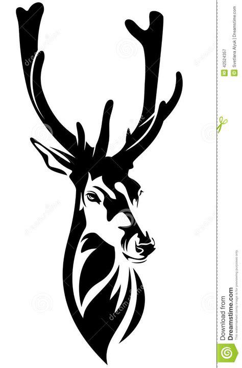 deer head stock vector image 42524357