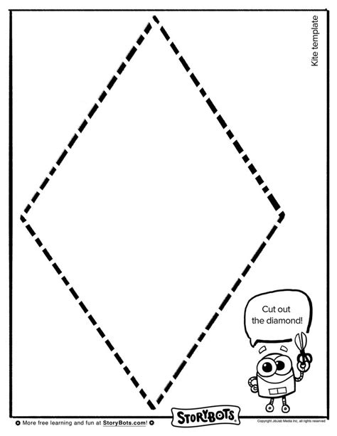 make your own kite template summer activity sheets