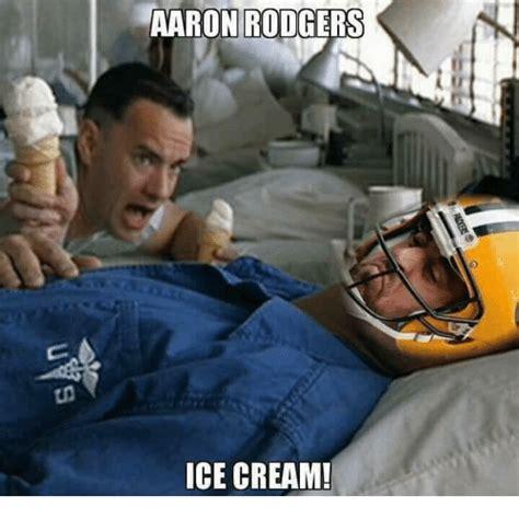 Lieutenant Dan Ice Cream Meme - aaron rodgers ice cream aaron rodgers meme on me me