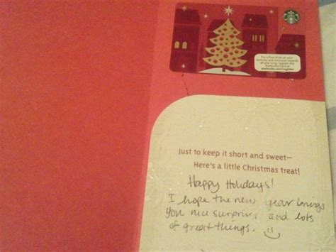 cute christmas card with a starbucks gift card