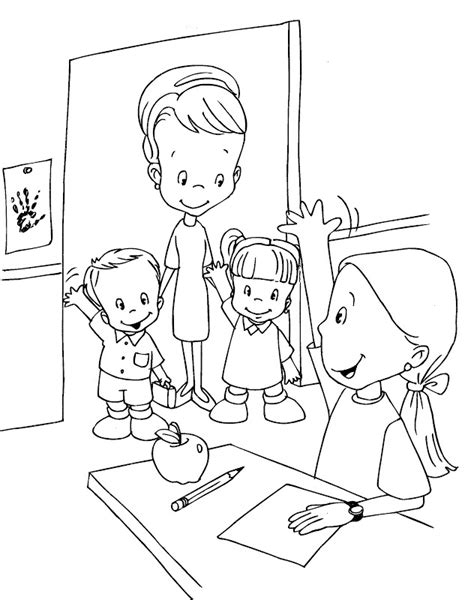 imagenes de good morning para niños para colorear colorea tus dibujos ni 241 os iniciando clase para colorear y