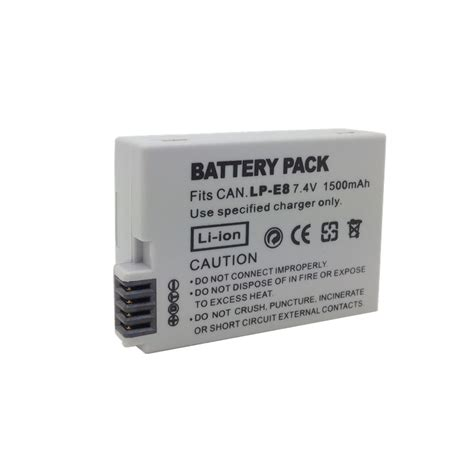 Battery Lpe8 For Canon Eos 550d 600d 650 Kode Vc13537 replacement battery lp e8 for canon eos 550d 600d