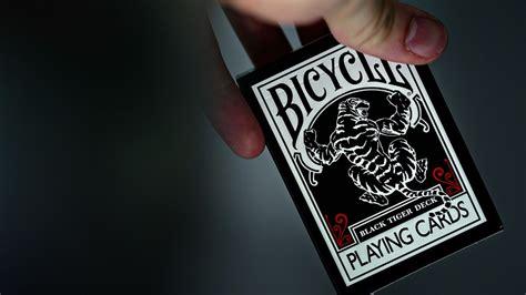 Tiger Deck by Bicycle Black Tiger Deck Cards Ellusionist