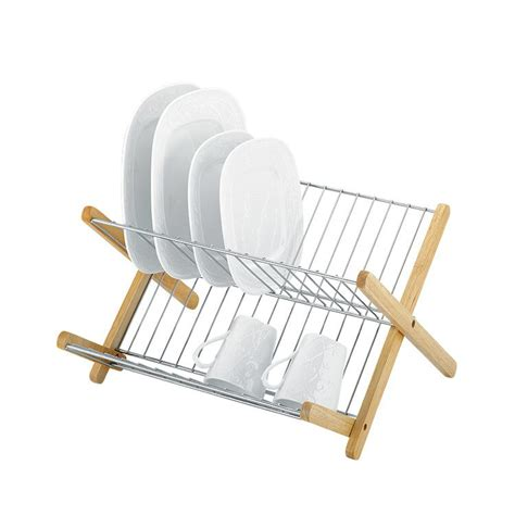 Dish Rack Images by Avanti Monterey Chromed Steel Timber Dish Rack On Sale