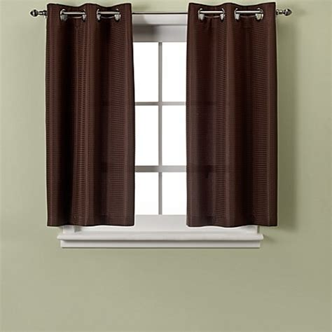 45 inch curtains and drapes hookless 174 waffle 45 inch window curtain in chocolate bed