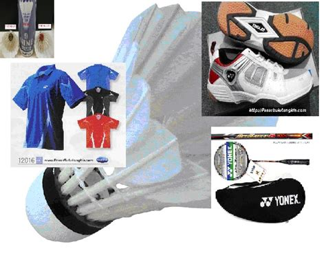 Harga Baju Merk Yonex sarana dan perlengkapan bulutangkis