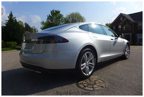 Tesla Model S Silver New Car Opticoat Silver Tesla Model S 85