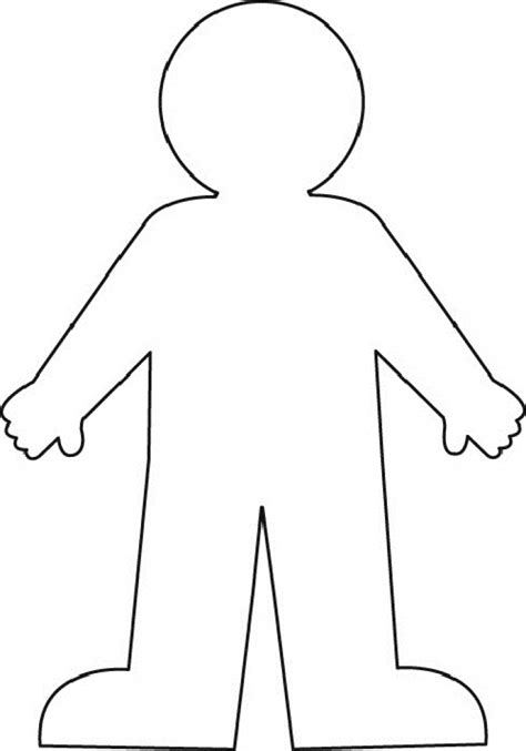 template of person clipart human outline clipart human outline